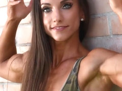 Beautiful FBB Flexing Her Biceps
