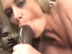 Hot Cougar Rides Black Cock