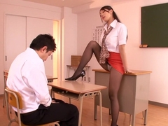 Student Catches His Teacher Masturbating
