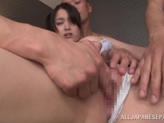 Japanese trollop Anna Natsuki in hot group action