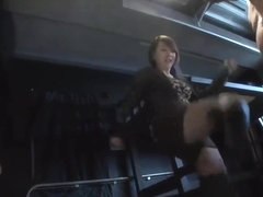 Japanese hard ball busting in boots
