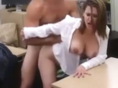 Sexy Business Woman Gets Her Pussy Pounded By Pawn Guy