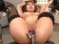 Asian slave gets punished with speculum