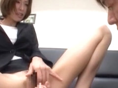 Horny Japanese whore Akari Asahina in Exotic Secretary, Masturbation/Onanii JAV clip