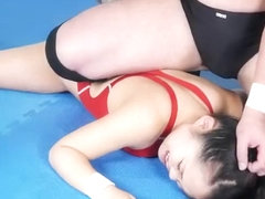 Japanese Mixed Wrestling Maledom - Loser Gets Fucked