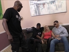Horny milf Angel Allwood analyzed by massive black cocks