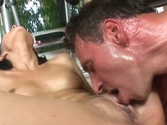 Abbie Cat Gets A Strong Drilling From Her Gym Coach - Upox