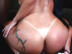 Hottie with tan lines gets slammed hard