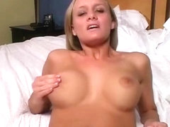 Virtual sex with a hot blonde called Leah