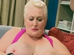 Chubby granny enjoys hardcore sex