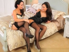 Onlytease Carla Brown and Lily S Strip