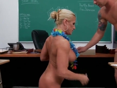 Amber Irons teaching her young student fucking well