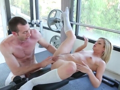 Hot fuck at the gym feat. Jordan Ash