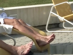 active granny feet & soles outside the spa-area