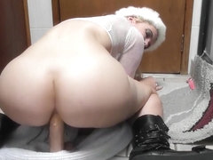Horny Pale Experienced girl With A Hat Masturbating