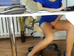 secretary getting groped by her boss at the office