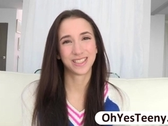 Teen Belle Knox captures herself blowing a big cock and gets fucked