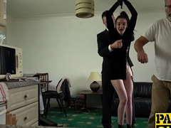 Dirty slut Maddison Rose punished hard with Pascals hard cock