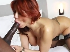 Hot milf loves to mandingo cum