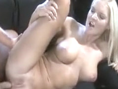 Dreamy Blonde Busting Her Jaw On A Fat Cock