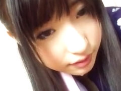 Hot chick Arisa Nakano Japanese cosplay fucking action