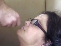 Broken Halo - housewife punished quickie with facial on glasses part 2