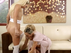 Horny pornstars Carmen Callaway, Brandi Love in Fabulous Cunnilingus, Fingering porn movie