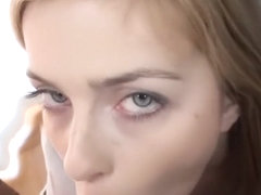 Charming Blonde Abigaile Johnson Gives Breathtaking Head to Long Fat Prick