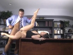 Extra Sexy Brunette Secretary Gets Fucked In The Office
