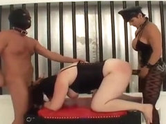 Femdomme & Two Submissives Going Gonzo Fetish Bananas Part 2