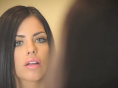 Brunette Adriana Chechik takes trio of BBC