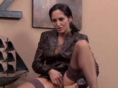 Good-looking buxomy MILF Ava Addams in office