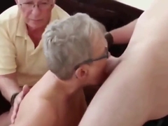Horny Old 80Yo Couple Invited Their Young Neighbor For Tea