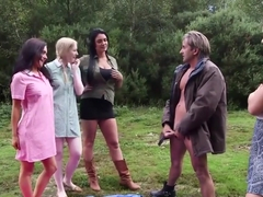 British Cfnm Babes Wanking Dick Outdoors