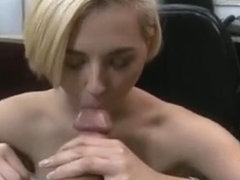 Short Haired Blonde Getting Face Fucked In Pawn Shop