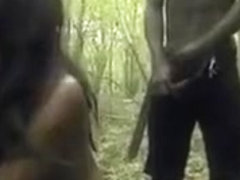 Ebony Slut Gang Banged In The Jungle