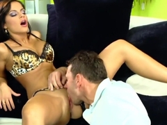 Hottest pornstar Black Angelika in fabulous blowjob, cunnilingus sex movie