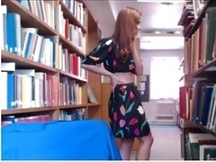 British Cutie Cams in Busy Library Part 2