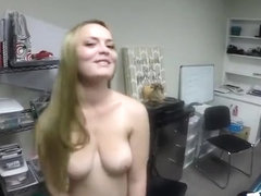 Desperate Chick Monica Rise Blows Cock For A Job