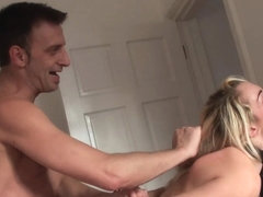 Busty brit sub dominated and made to squirt