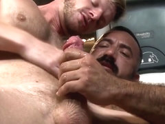 Gay bear cums in mouth after fucking