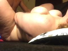 Chubby wife spreading her legs for drilling