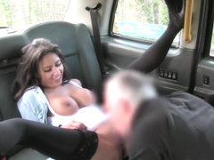 Busty Amateur Babe Drilled In The Taxi To Off Her Fare