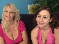 Best pornstars Charlee Chase and Mae Meyers in incredible facial, big tits porn clip