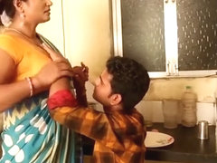 Hot Aunty Seduces junior Boy
