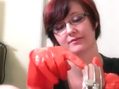 Rubber Gloves tease and denial