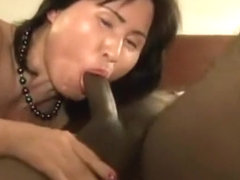 Buxom Japanese Hottie With A Sensational Ass Takes On A Gan