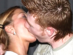 Slideshow of Amateur Couples Deep Tongue Kissing