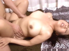 Naughty Asian mature is fucked in the bath