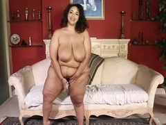 Only big black cock can satisfy so fat woman